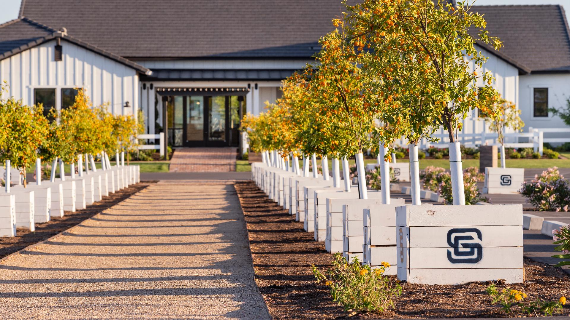 Sterling Grove Sales Center pathway