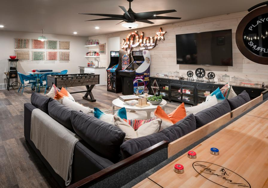 Optional finished basements with endless possibilities of entertainment space
