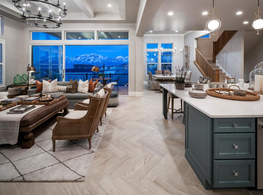 Open concept great rooms with multi-slide doors that bring the outdoors in