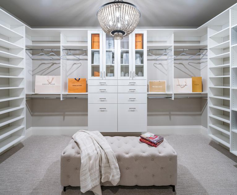 Huge primary bedroom walk-in closets with ample storage