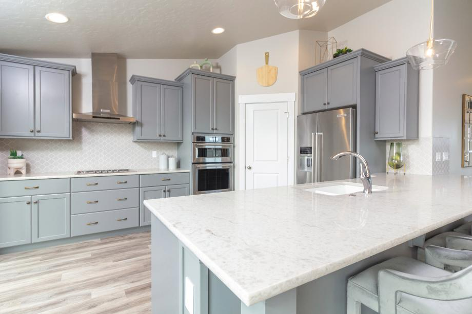 Kitchen offers abundant counter space