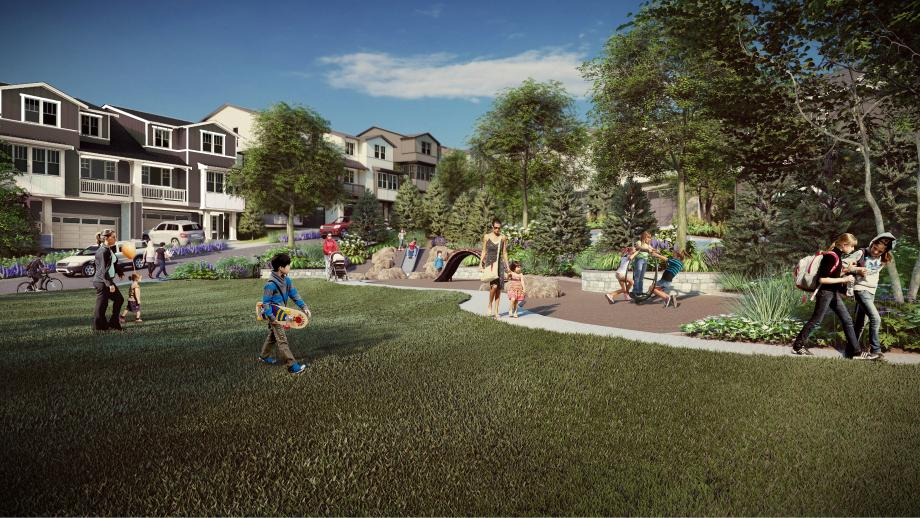 Numerous parks create community gathering areas for neighbors to get to know each other