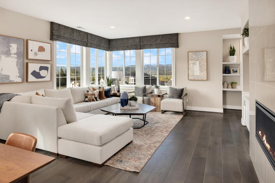 Open floorplan of the Armstrong home design