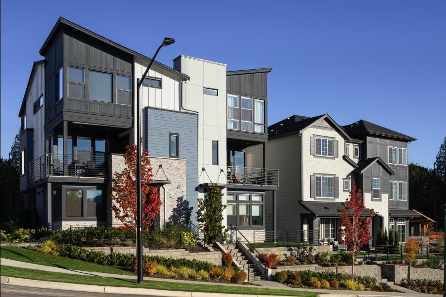 Contemporary and classic architecture create a beautiful streetscene