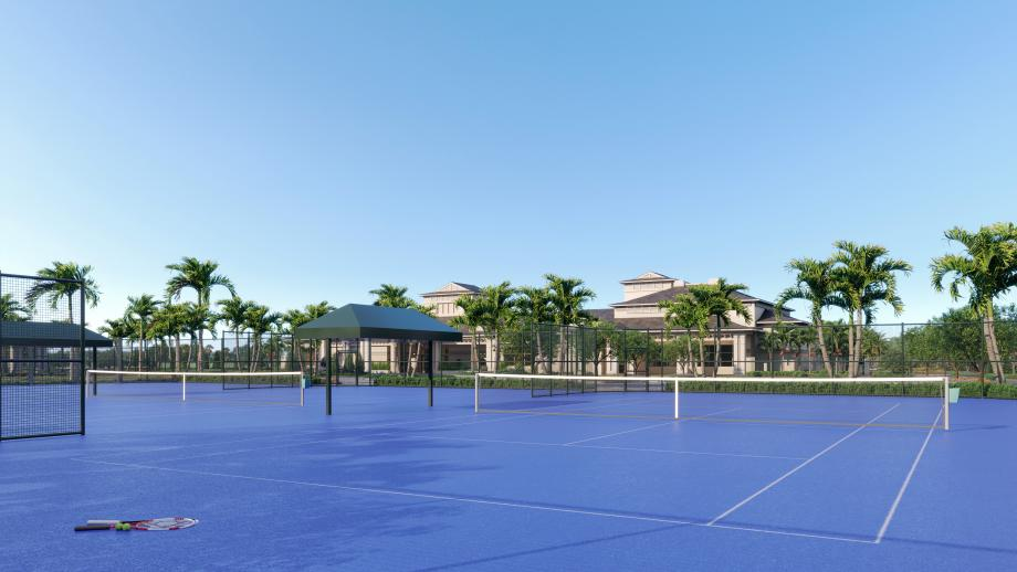 Enjoy some friendly competition at the future tennis courts
