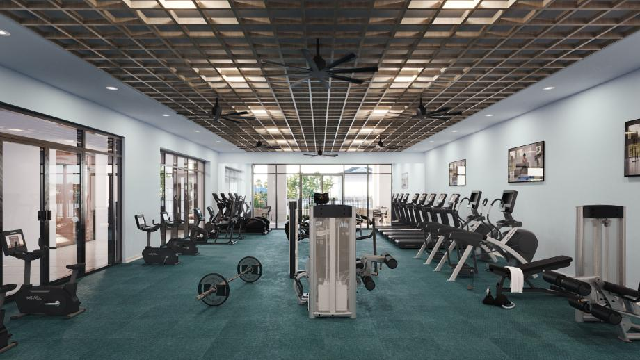 The future Wellness Studio will feature a fitness center with state-of-the-art equipment