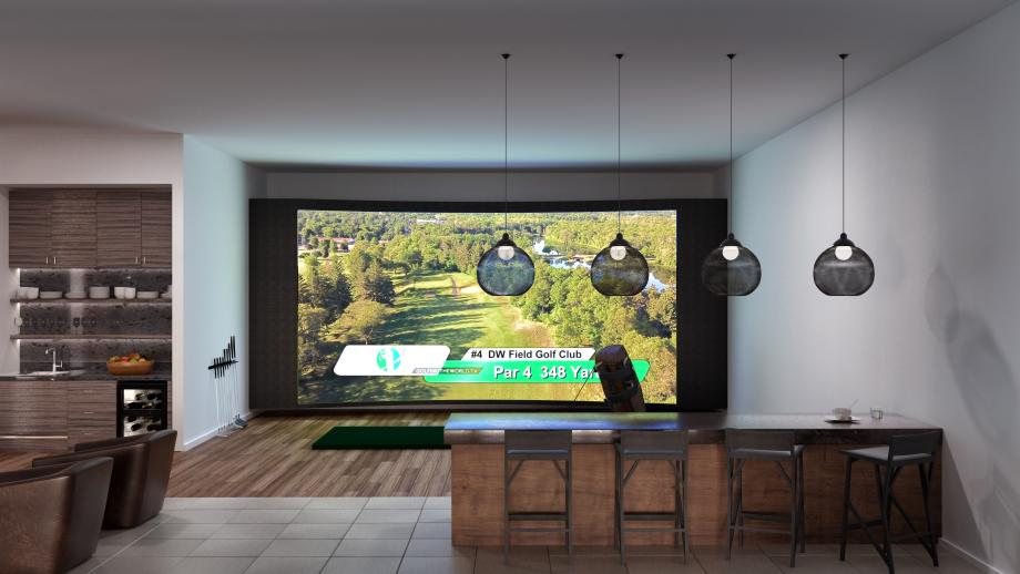 Practice your swing at Tee Up, the future indoor golf simulator