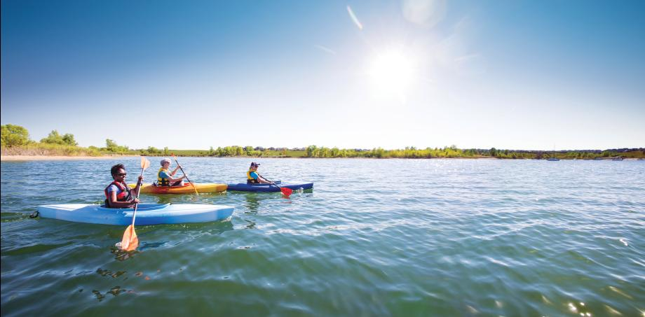 Soak up the Colorado sunshine in a kayak or canoe