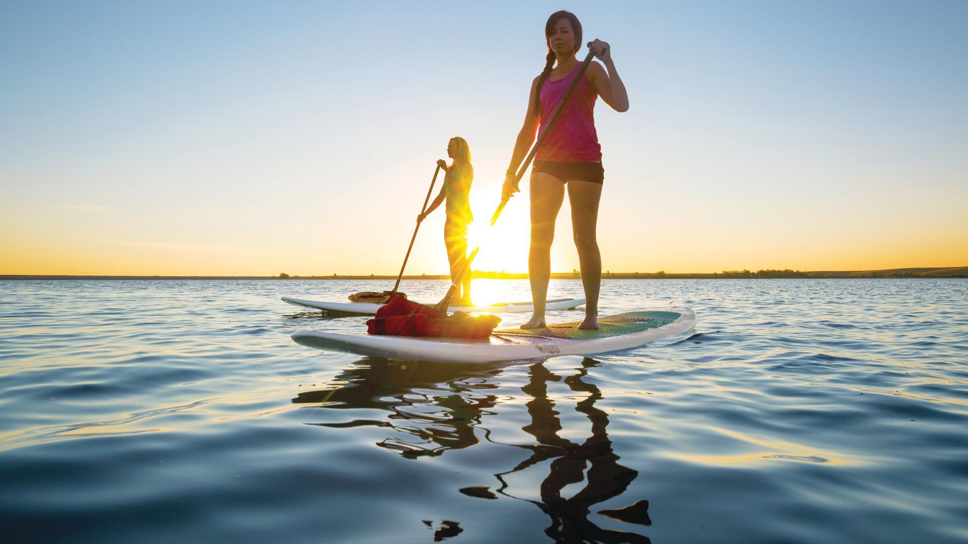 Enjoy non-motorized boating on the Aurora Reservoir