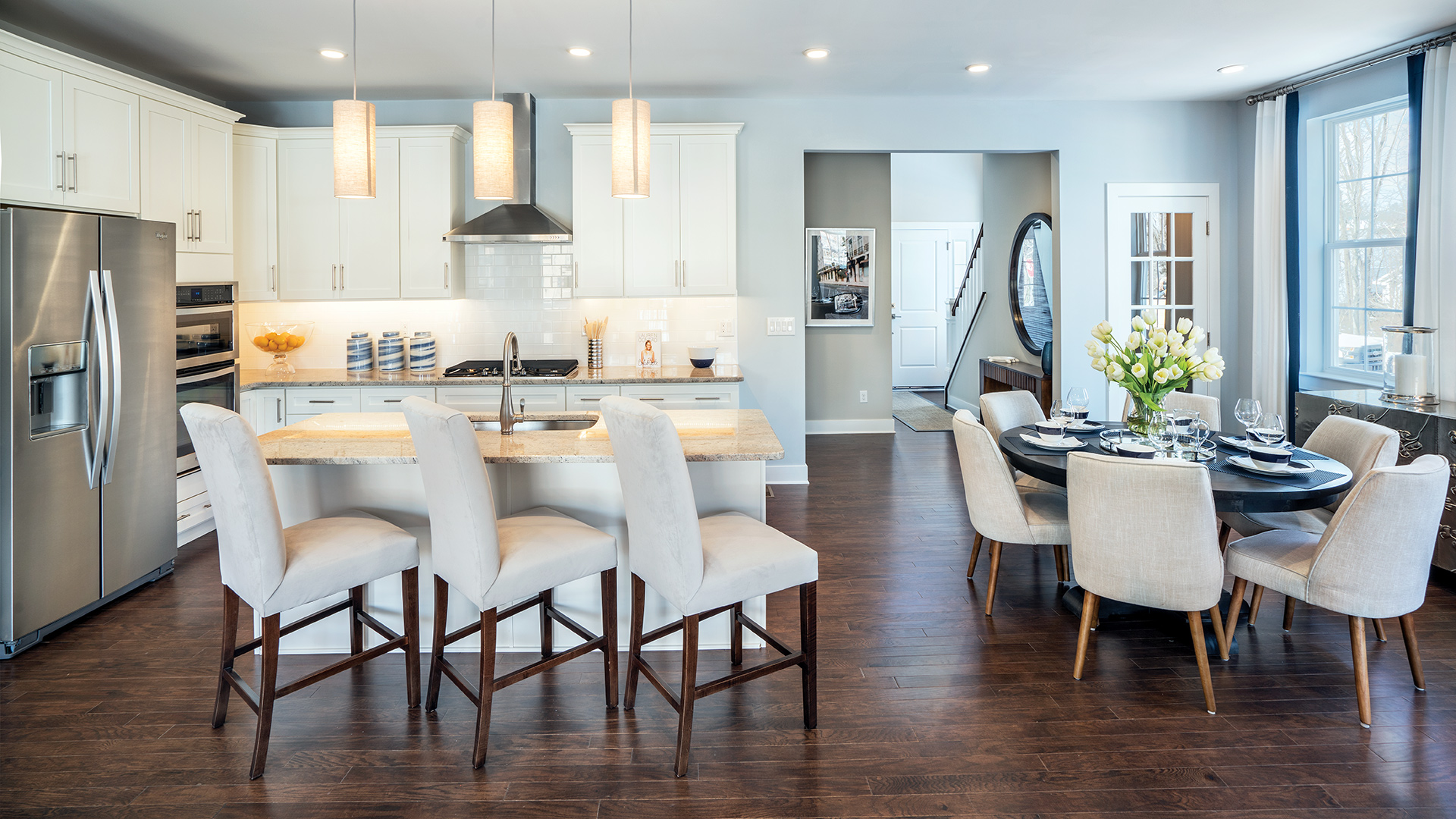 Carriage Collection features open kitchens with casual dining areas