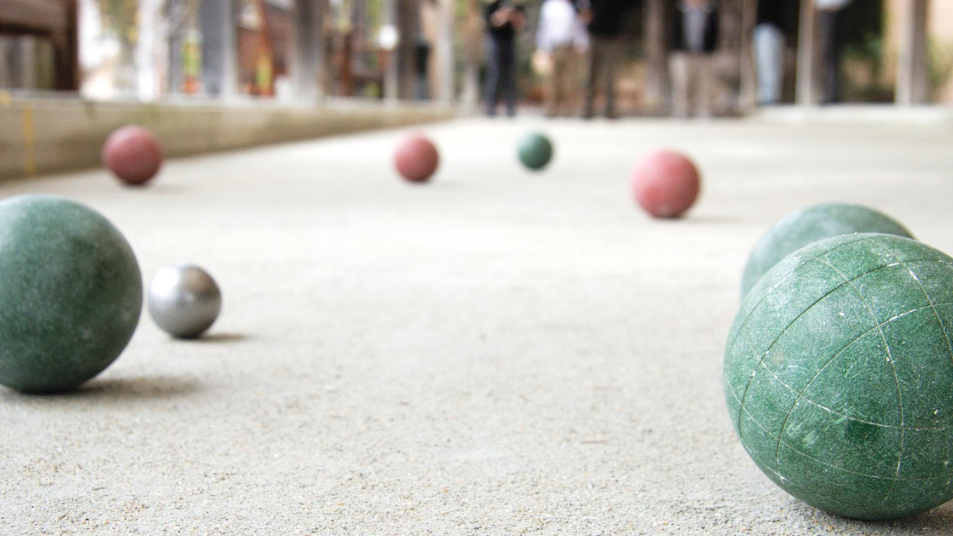 Community bocce courts for residents to enjoy