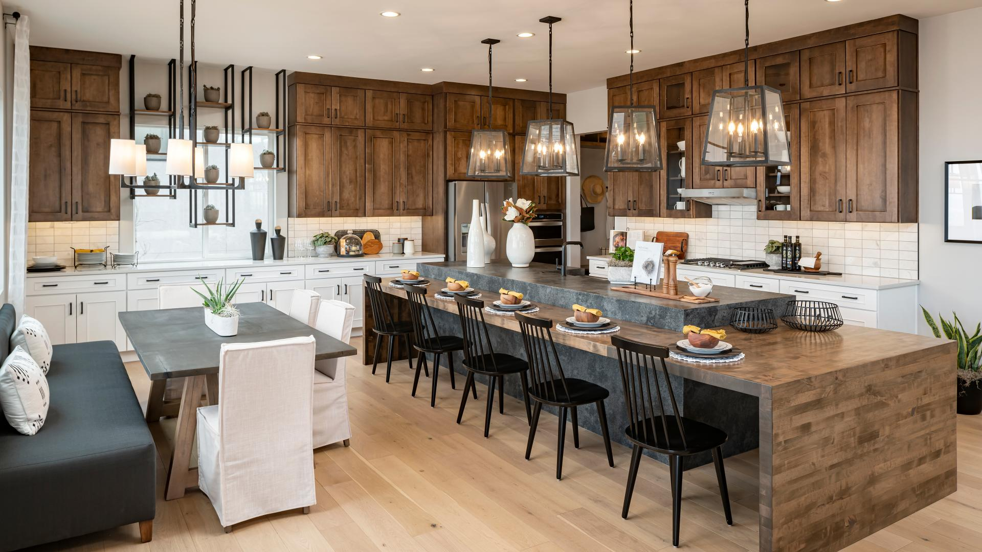 Stunning kitchen designs with a huge center island ideal for entertaining