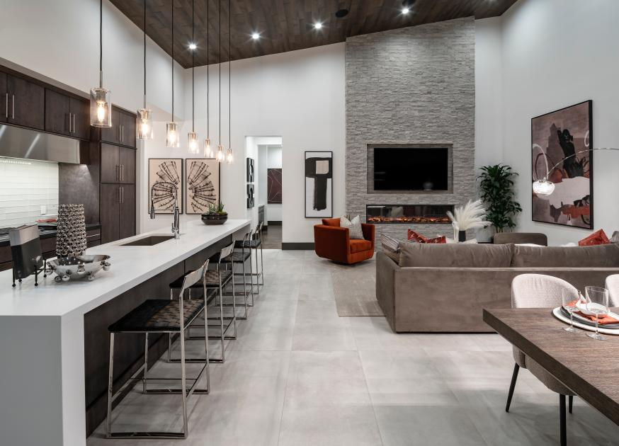 Open concept great rooms and kitchens for entertaining