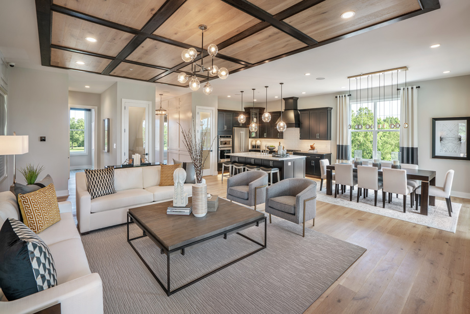 Spacious open-concept great rooms