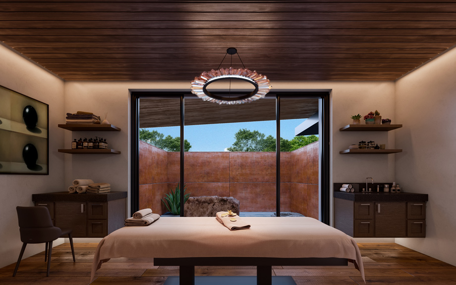 Mountain House Lodge - Spa treatment room