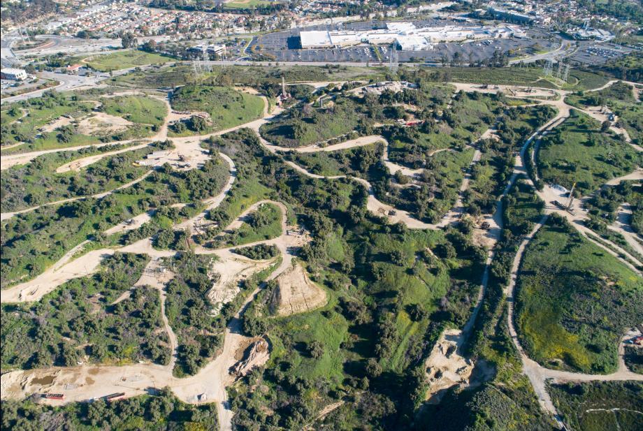 Future community location in the hills of Montebello