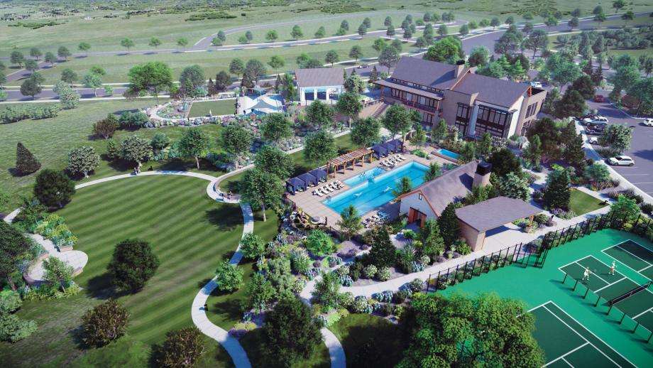 Exclusive Regency at Montaine Amenity Center features pool, spa, event lawn, and more