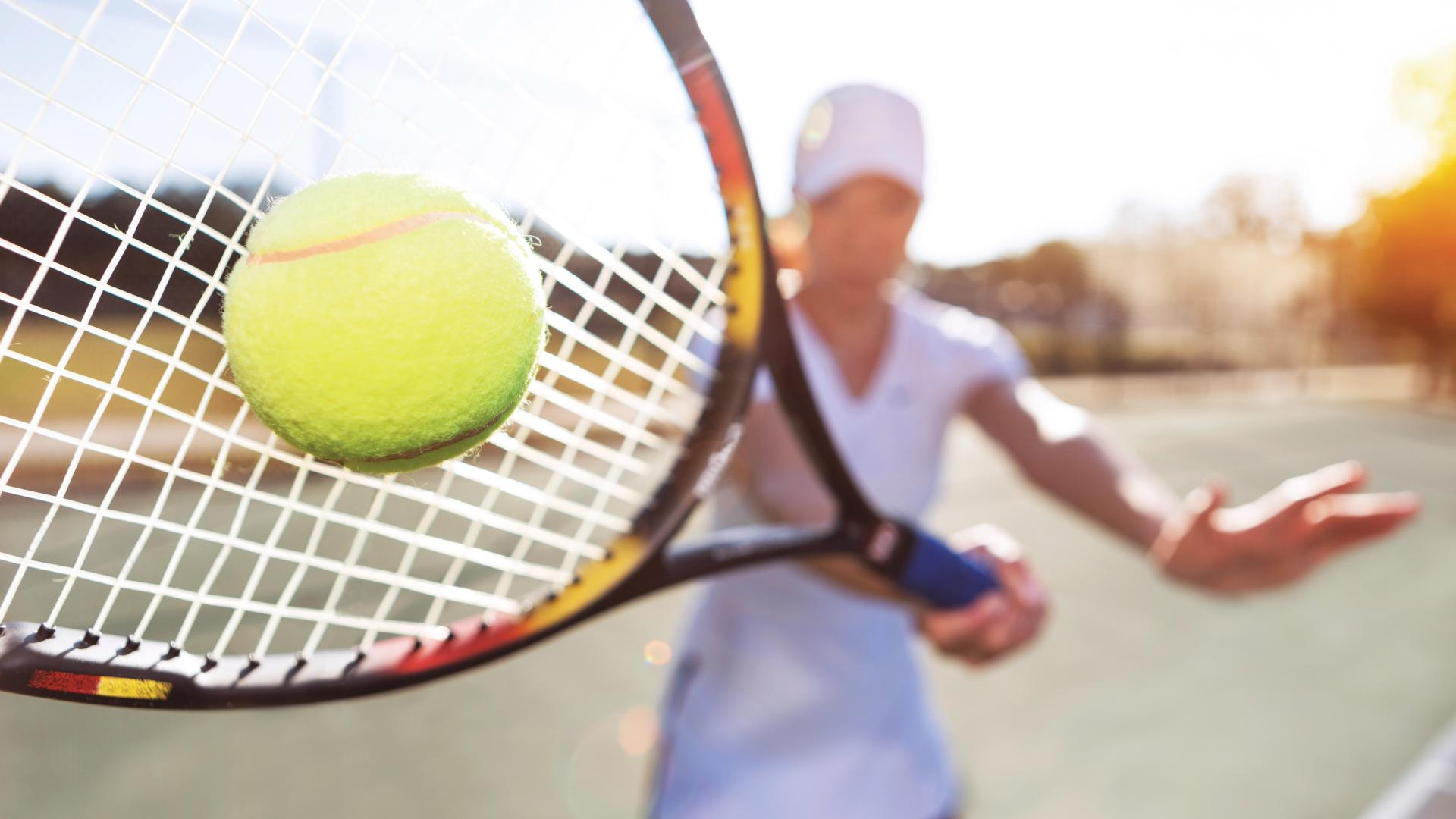 Enjoy tennis at the exclusive Amenity Center