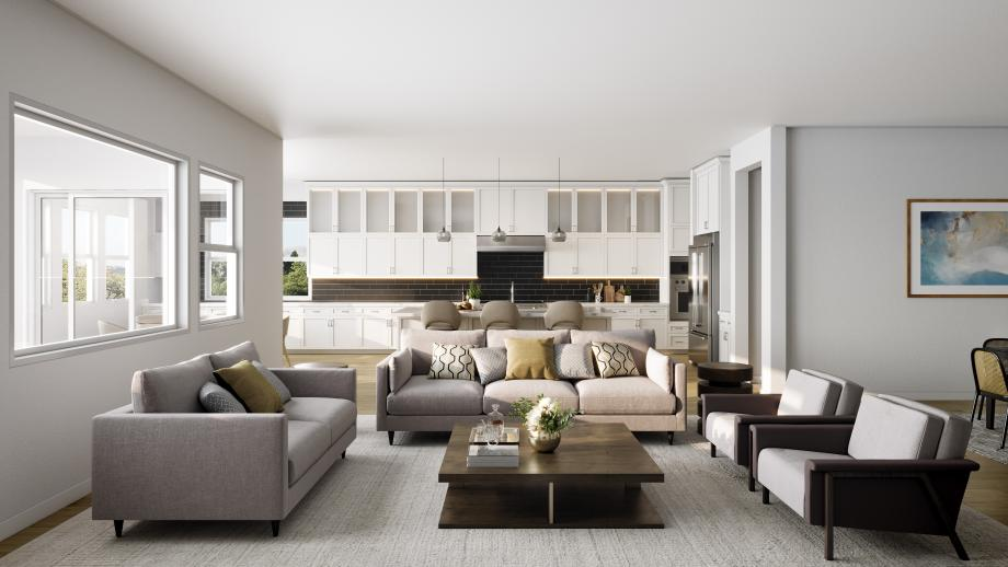 Home designs will feature a bright open floor plan