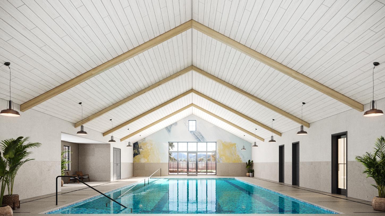 Future clubhouse indoor pool (artist rendering)
