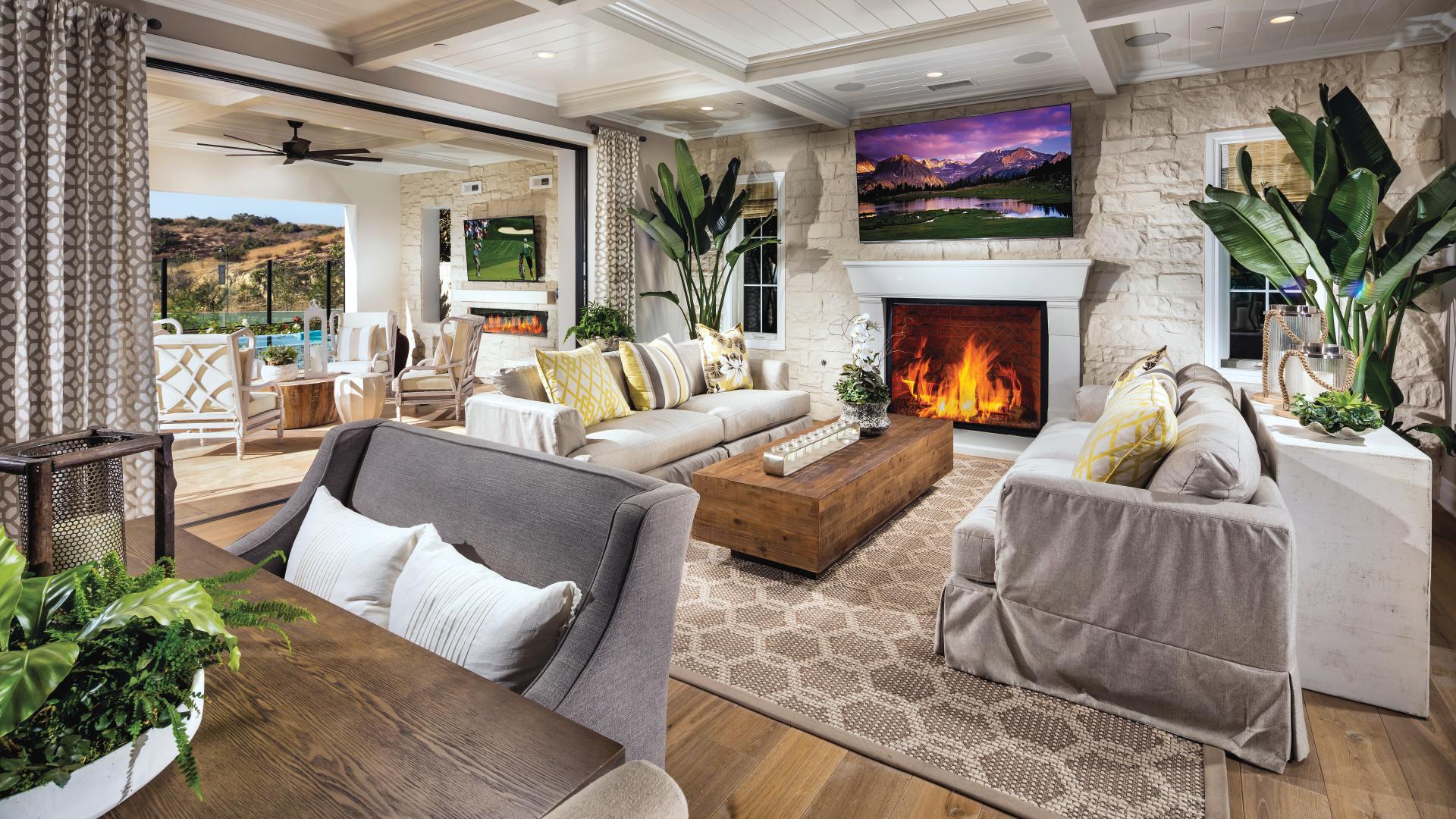 Open floor plans with indoor/outdoor living
