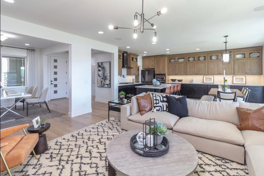 This bright, open-concept layout is ideal for relaxed modern living