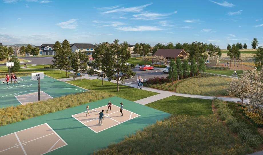 Vibrant community parks include amenities for all ages