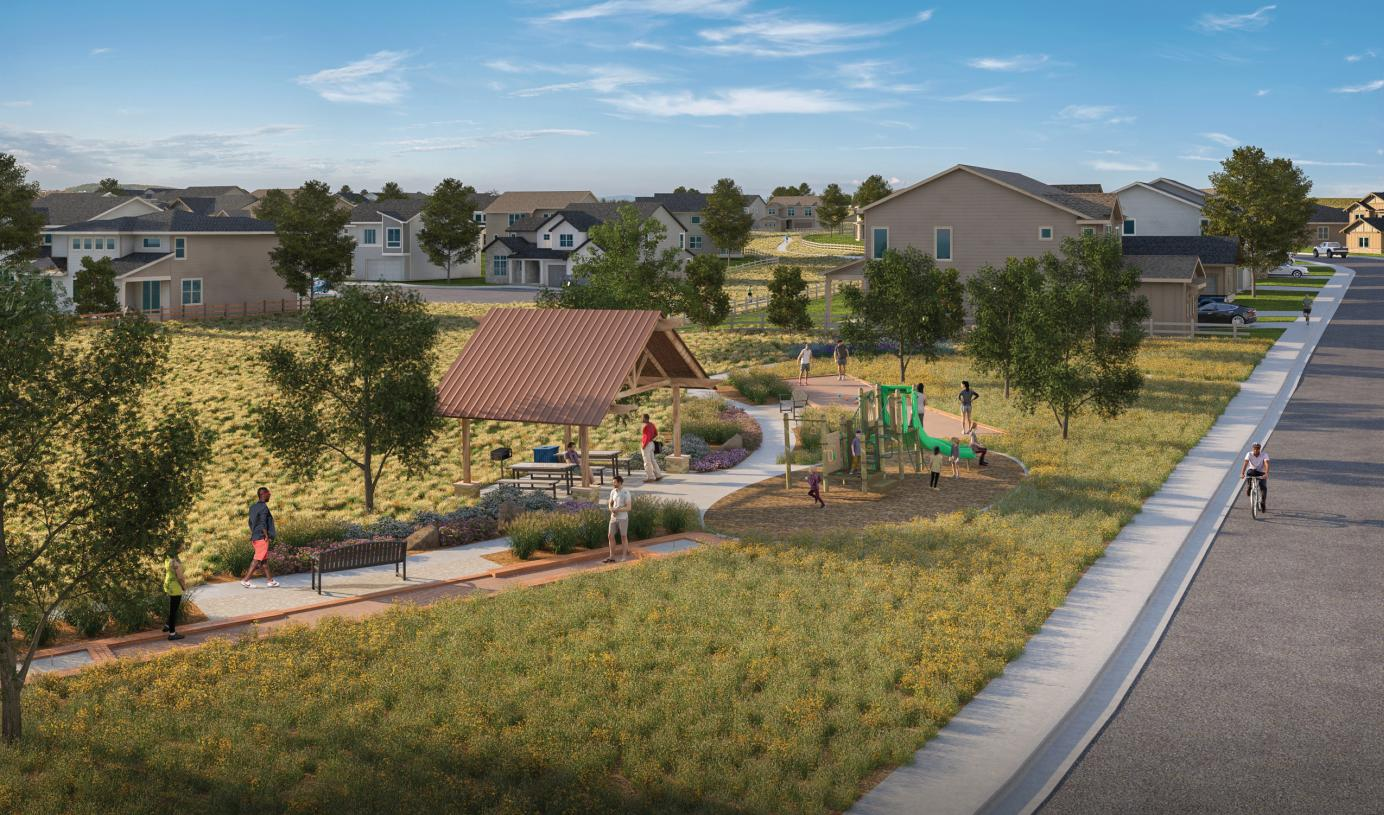 Outdoor living is front-and-center at Allison Ranch
