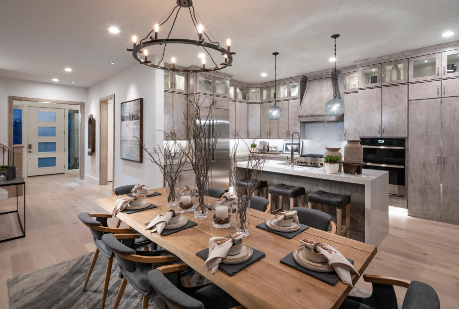 Beautiful gourmet kitchens with ample countertop and cabinet space
