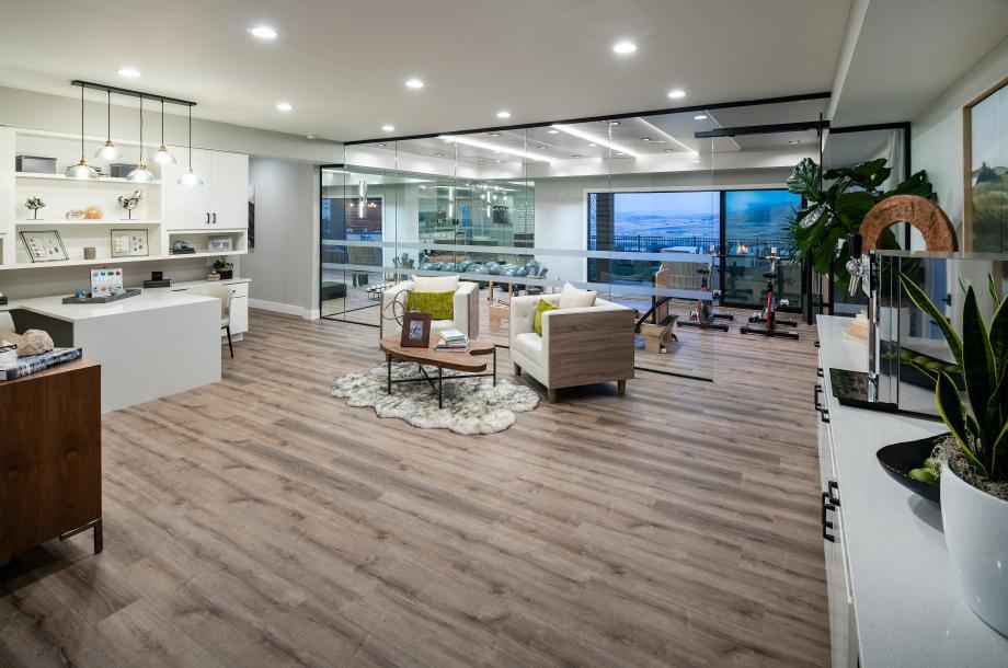 Versatile optional finished basements