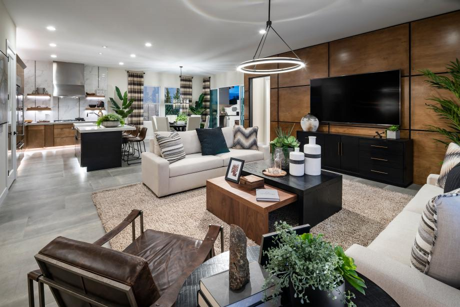Open concept living is an entertainer's dream