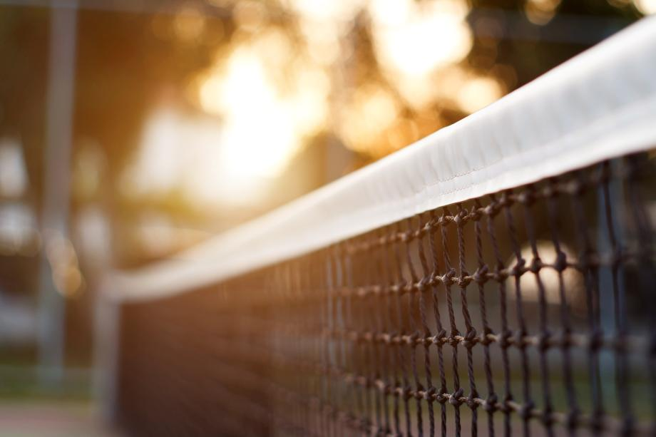 Community tennis courts and pickleball courts for outdoor activities