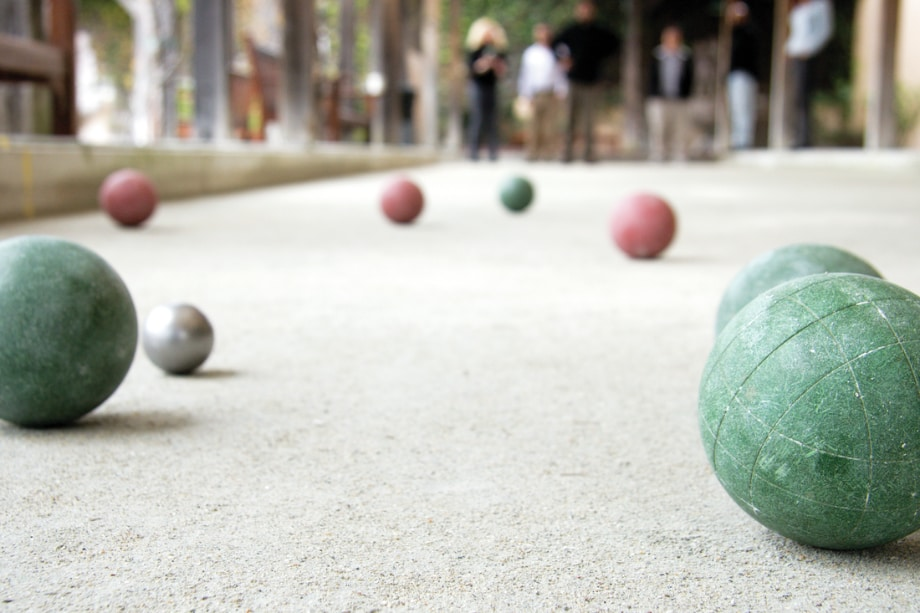 Bocce ball court for outdoor entertaining