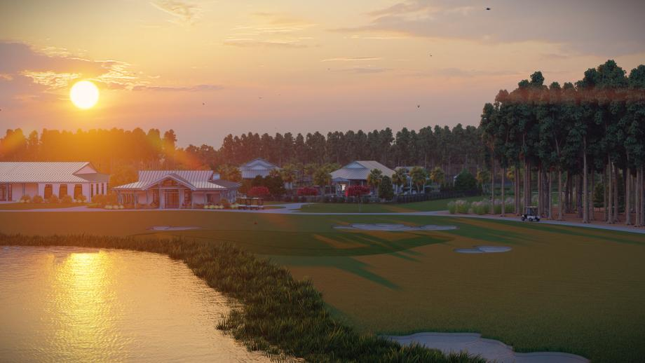 Future 18-hole Nicklaus design golf course surrounded by community ponds and woods