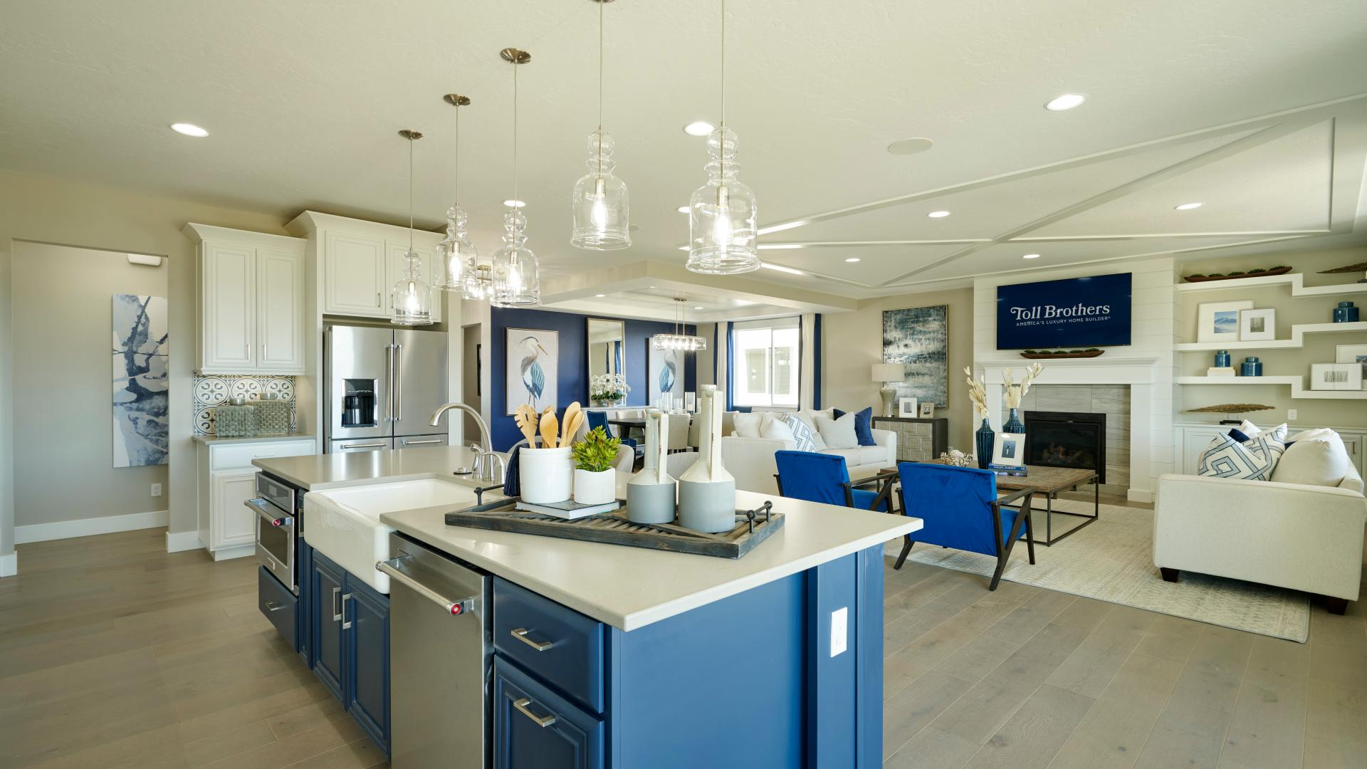 Open and inviting great room and kitchens