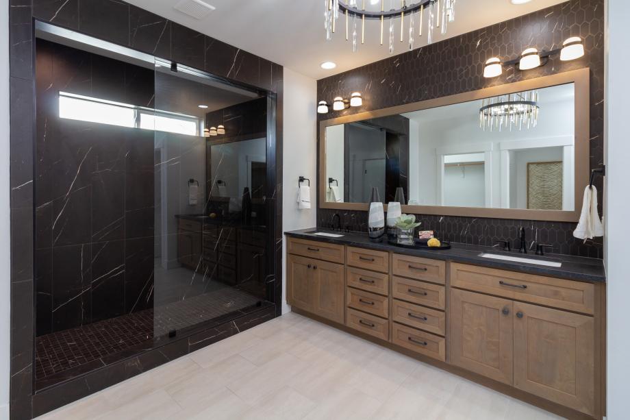 Fully tiled walk-in showers