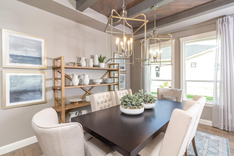 Formal dining spaces for entertaining