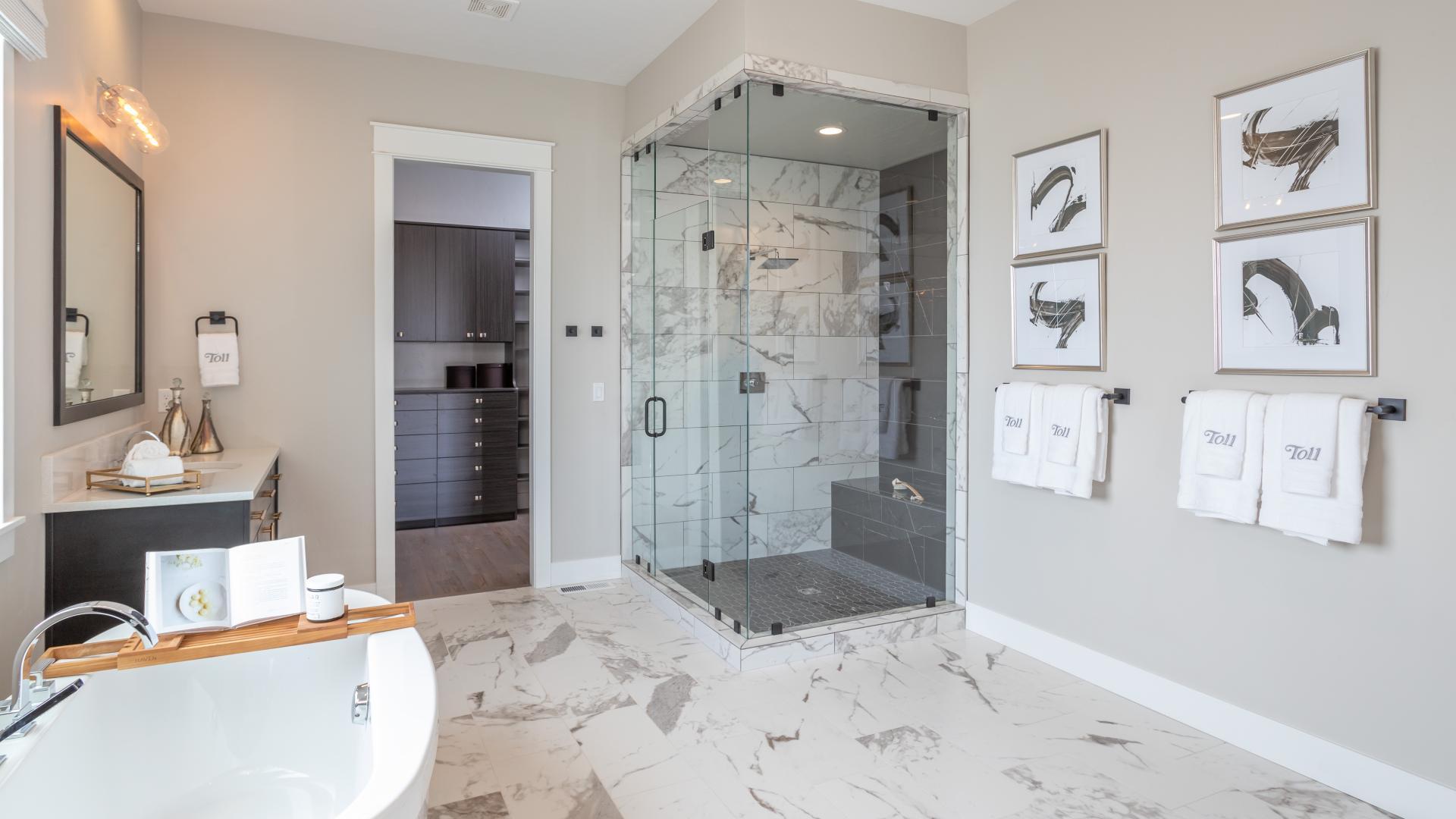 Luxurious spa-like primary bathrooms