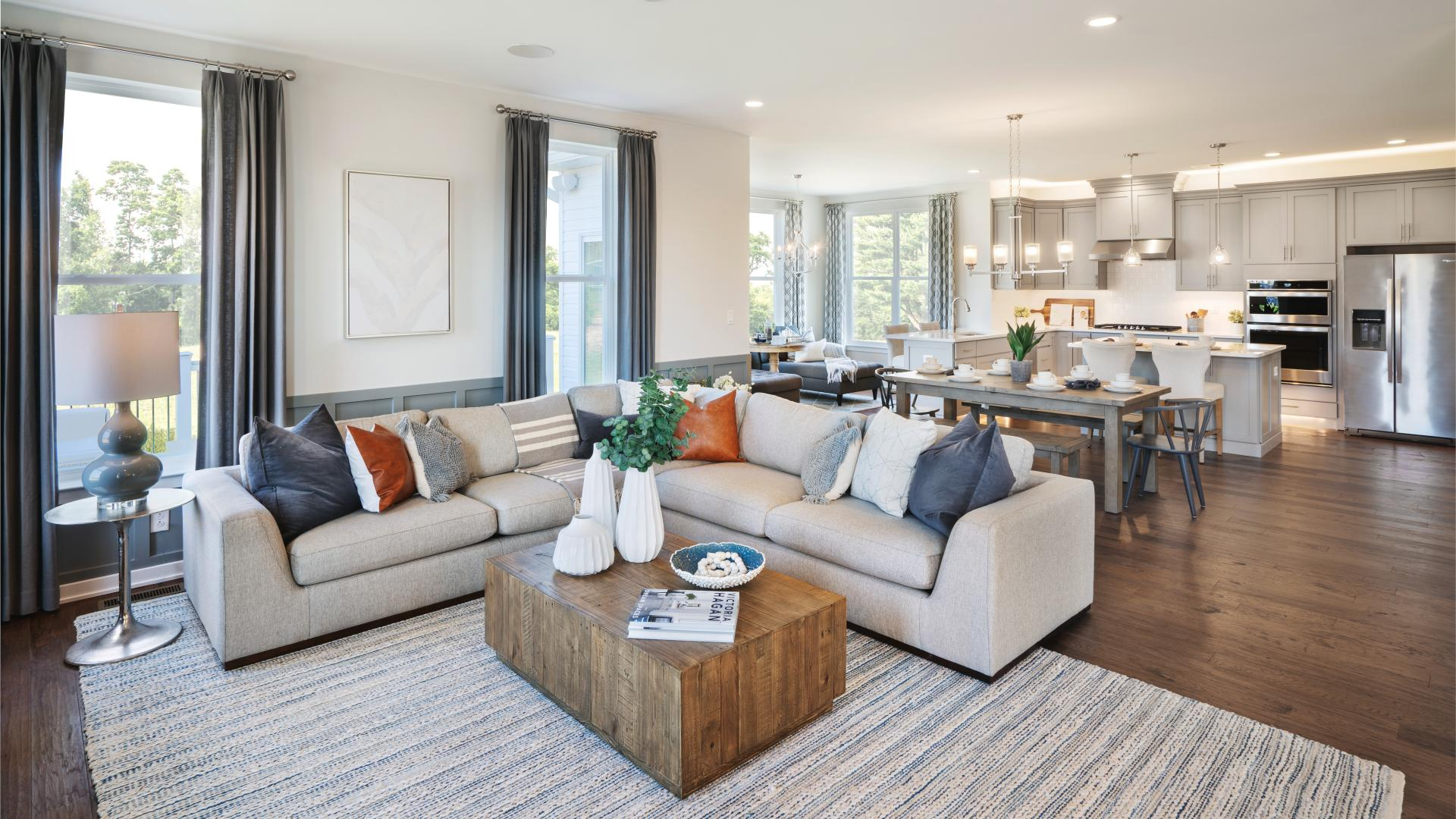Open-concept floor plans with generously sized great rooms