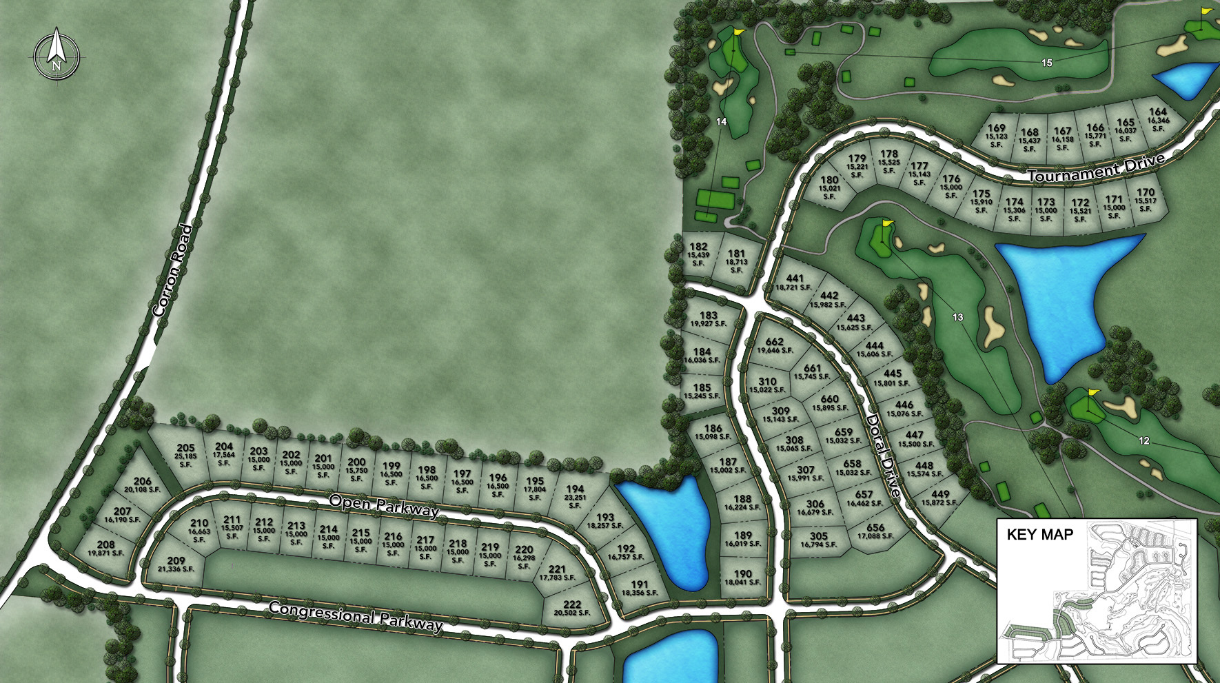 Bowes Creek Country Club - The Masters Collection Site Plan