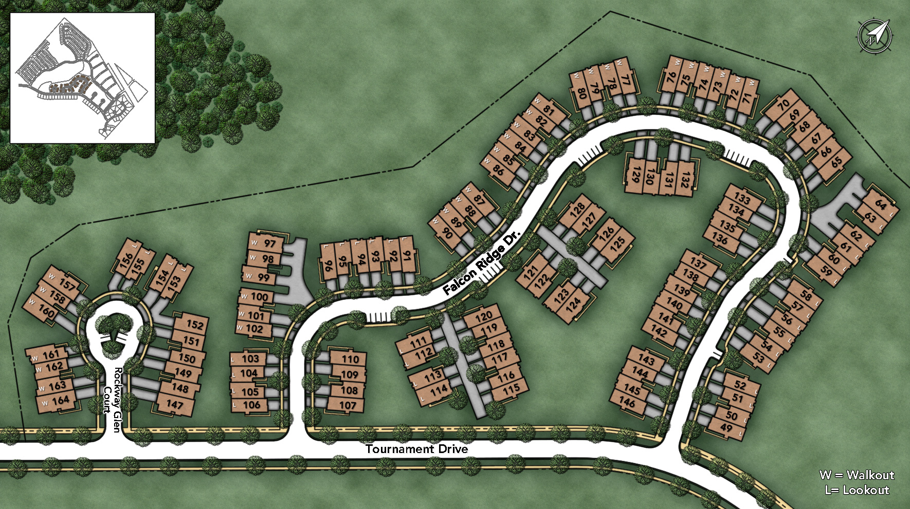 Bowes Creek Country Club - The Townhome Collection Site Plan