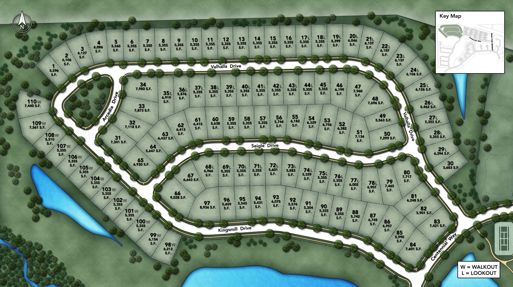 Regency at Bowes Creek Country Club Active Adult Single Family Collection Site Plan I