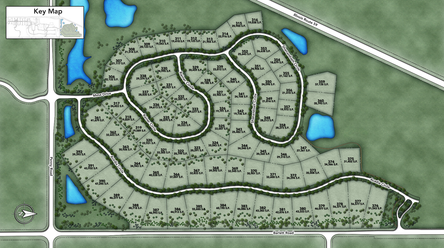 The Woods of South Barrington - Estate Collection Site Plan