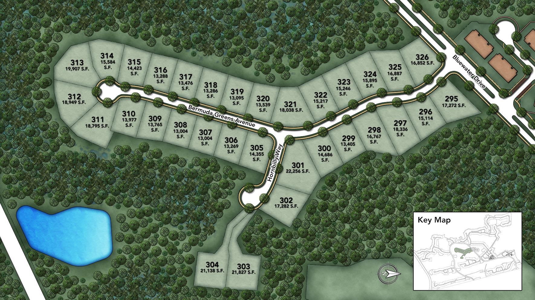 Coastal Oaks at Nocatee - Signature - Bermuda Greens Site Plan