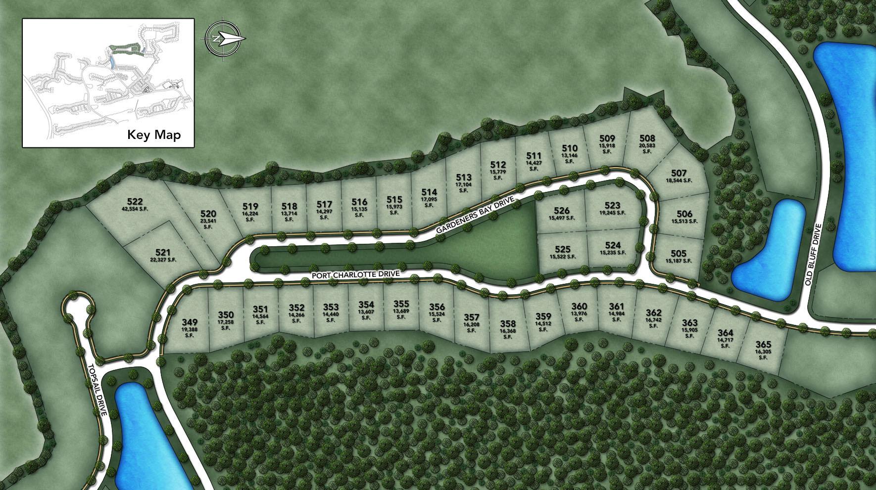 Coastal Oaks at Nocatee - Signature - Gardeners Bay Site Plan