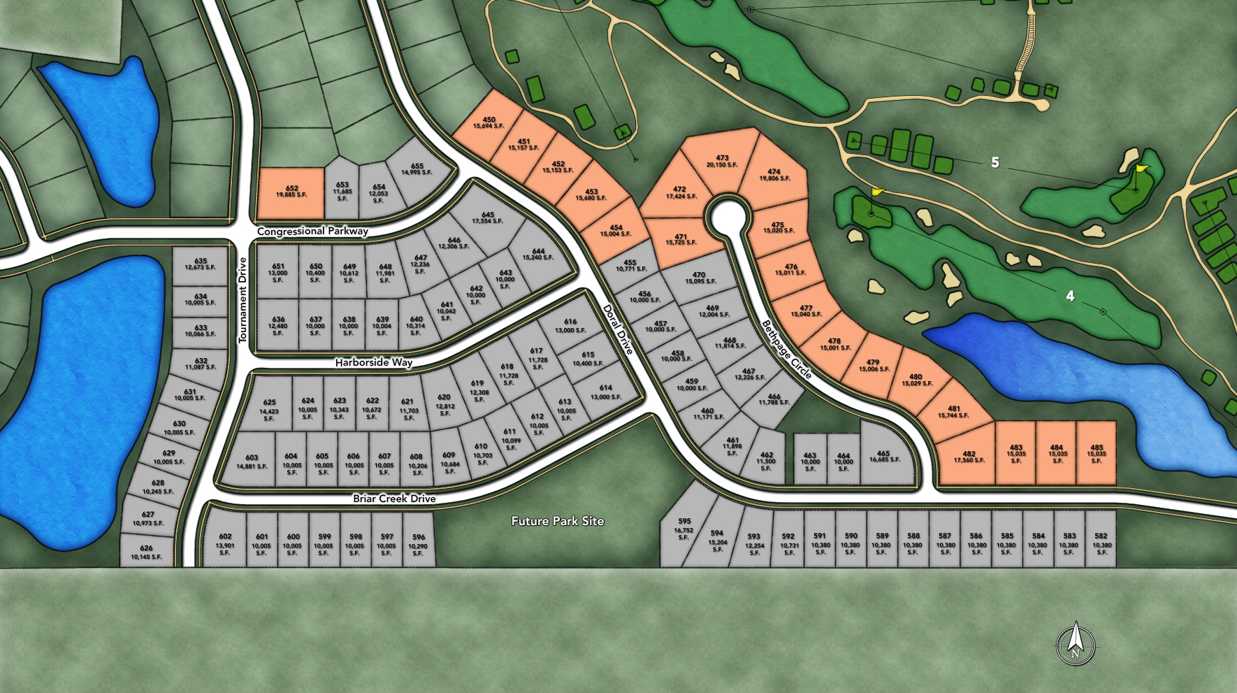 Bowes Creek Country Club Site Plan