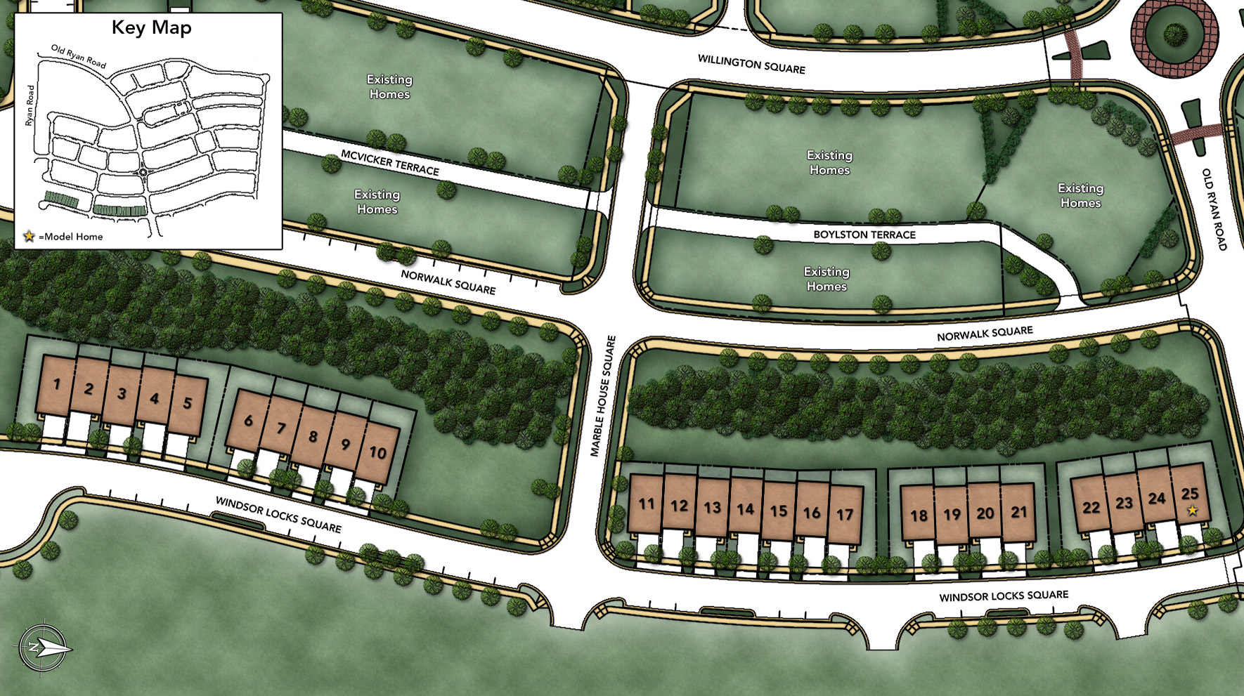 Moorefield Green - The Woodside Site Plan I