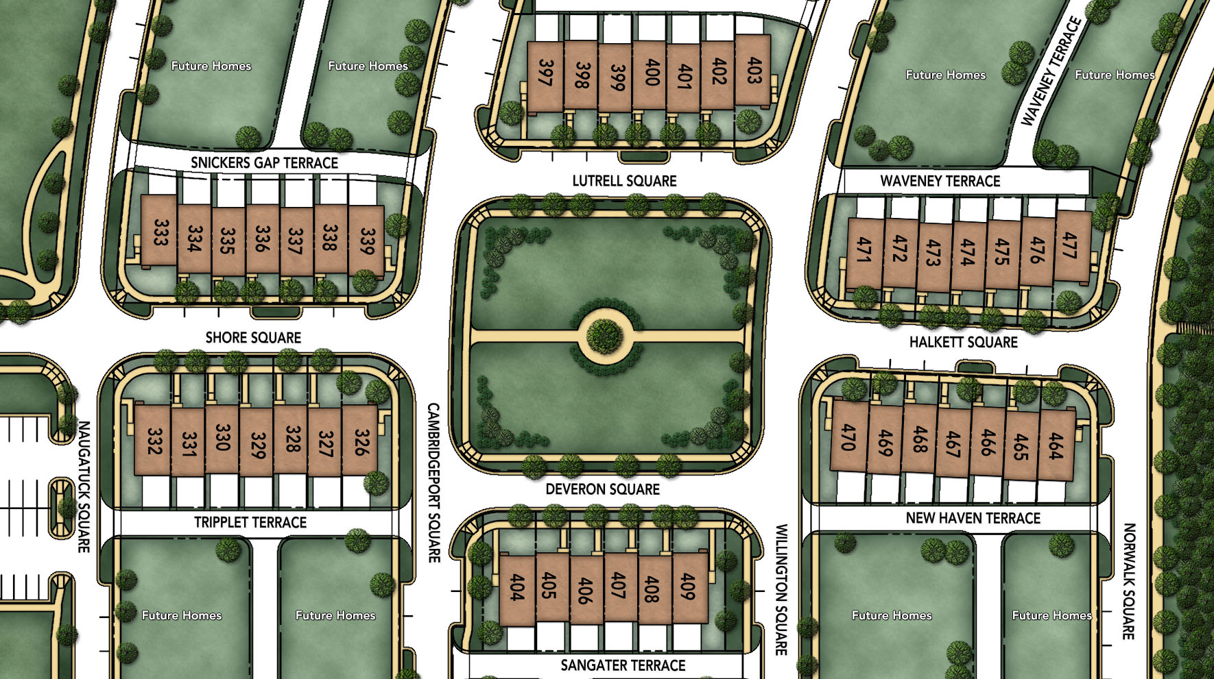 Moorefield Green - The Manors Site Plan I