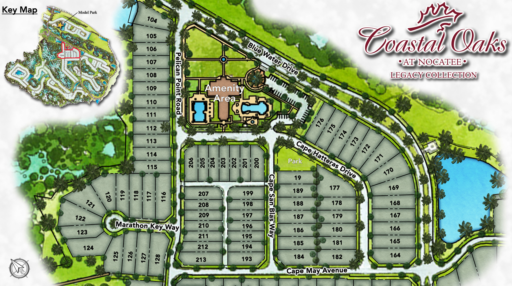 coastal oaks at nocatee   legacy collection site plan