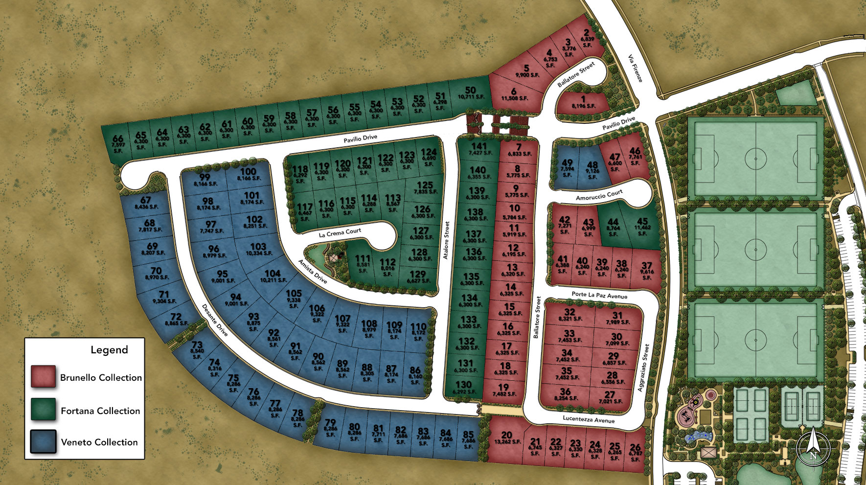 Milano by Toll Brothers - Veneto Collection Site Plan